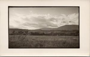 Rural Landscape Meadow Unknown Location B&W UNUSED Real Photo Postcard D99