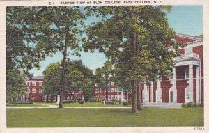 North Carolina Elon College Campus View Of Elon College