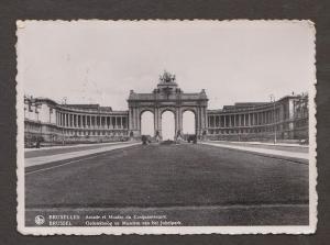 Memorial Arch & Jubelpark Museum , Brussels, Belgium - Real Photo - Used 1937
