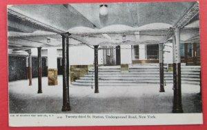 Twenty-Third St. Station, Underground Road, New York City, NY Postcard (#4381)
