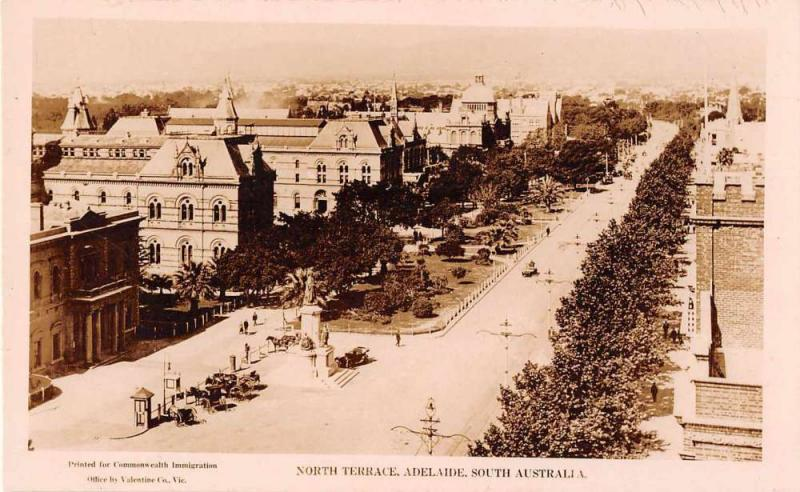 Adelaide South Australia North Terrace Real Photo Antique Postcard J49726