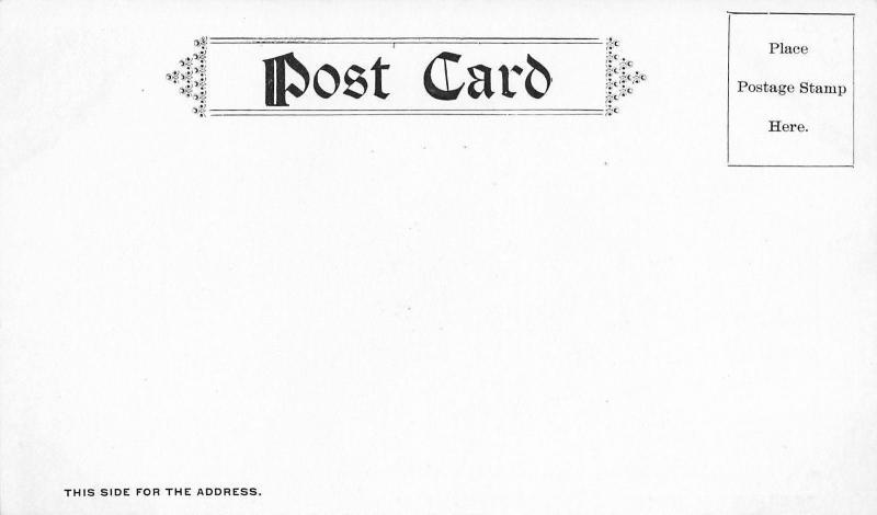 Madison Connecticut~Bridge at Ninevah~Dirt Road~Wood Rails~1905 B&W Postcard