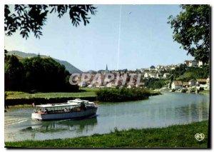 Postcard Modern Franche Comte Picturesque The Saut du Doubs Frontiere Franco ...