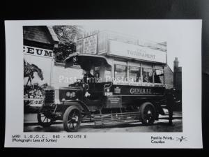Omnibus L.G.O.C. B43 ROUTE 8 - BRONDESBURY Pamlin Print Postcard No.M901