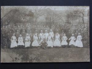 Group Portrait Red Cross Nurses & Men in Suits RP PC by Horace Dudley, West Mid