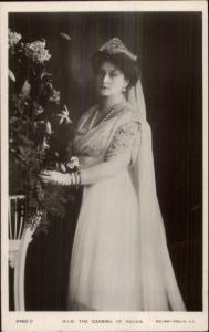 Russia Queen Czarina of Russia c1910 Rotary Real Photo Postcard