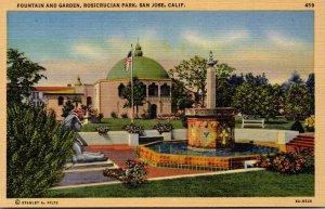 California San Jose Rosicrucian Park Fountain and Garden