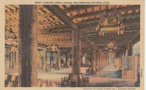 YELLOWSTONE NATIONAL PARK , Wyoming , 30s-40s; Canyon Lodge Lounge