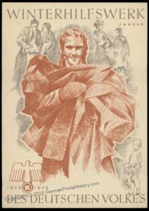 3rd Reich Germany 1938 Winterhilfswerk WHW Winter Charities Donation Plaka 77109