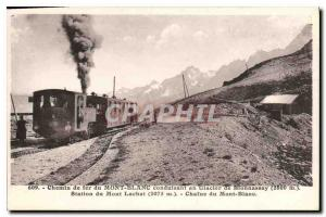 Old Postcard Mont Blanc Railway leading to the Glacier de Bionnassay (2800m) ...