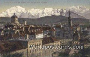 Blick auf die Alpen Bern Swizerland Stamp on back