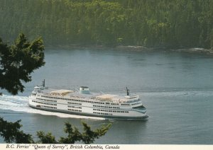 B.C. , Canada , 1960-80s ; Ferry M.V. QUEEN of SURREY ; Version-2
