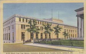 Maryland Baltimore Enoch Pratt Free library Cathedral Mulberry And Franklin S...