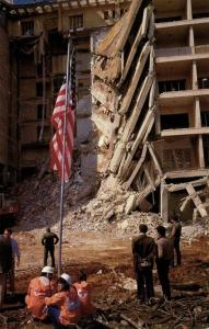 lebanon, BEIRUT BEYROUTH, U.S. Embassy after Bombing (1983) Postcard