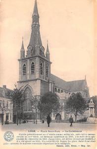 Liege Belgium, Belgique, Belgie, Belgien Place Saint Paul, La Cathedrale Lieg...