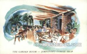Daytona Beach Florida USA The Garden Room in Johnstons Coffee Shop Old Vintag...