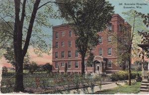 KENOSHA , Wisconsin, PU-1913 ; Exterior, Kenosha Hospital