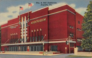 Wm. B. Bell Auditorium, Augusta, GA, Early Linen Postcard, Unused
