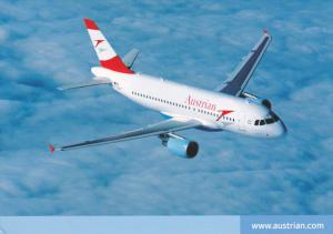 Austrian Airlines Airbus A319 Jet Airplane  , 80-90s