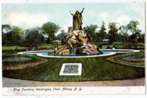 king Fountain, Washington Park, Albany NY