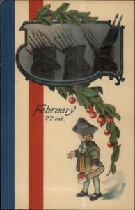 George Washington as Boy w/ Axe Feb 22nd Series 2228 c1910 Postcard