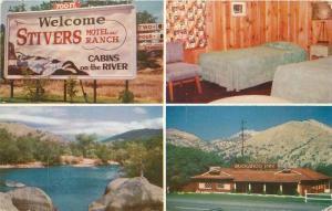 1966 Stivers Ranch Sequoia Three Rivers California Motel roadside Roberts 6779