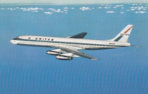 10584 United Airlines DC-8 Jet Mainliner - 1961