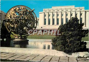 Modern Postcard Geneva Palace of the UN and the Sphere Armillary offers by th...