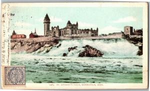 St. Anthony's Falls, Minneapolis MN c1905 UDB Vintage Postcard O17