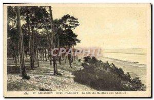 Old Postcard Arcachon Cote D & # 39Argent La Cote Du Moulleau In Abatilles