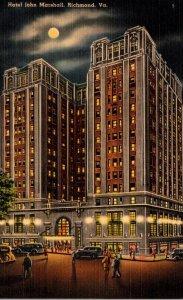 Virginia Richmond Hotel John Marshall At Night