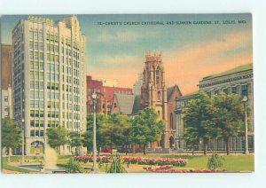 Linen CHURCH SCENE St. Louis Missouri MO AD1097