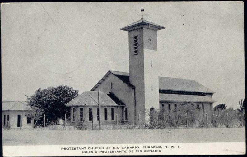 curacao, N.W.I., RIO CANARIO, Protestant Church (1948)