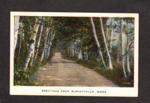 ME Greetings From Burkettville Appleton Maine Postcard Vintage PC