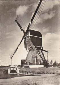 Netherlands Windmill Wipwatermolen nabij Voorhout Zuid-Holland Real Photo