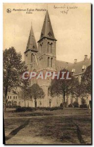 Old Postcard Maredsous Abbey Church Abbey Entree
