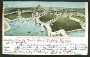 pc3930 postcard  Greetings World's Fair St. Louis Mo. 1904 EXPO Used 1904