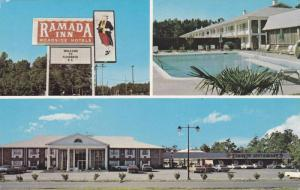 Swimming Pool, Classic Cars, 3 Views of the Ramada Inn, Florence, South Carol...