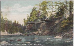 CONCORD NH - Contoocook Park view - 1910s / Amusement Park / River