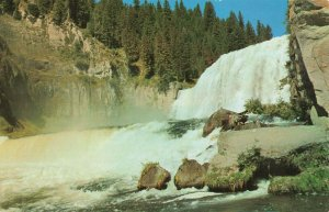 Postcard Upper Mesa Falls Snake River Idaho