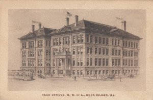ROCK ISLAND , Illinois, 1909; Head Offices, M.W. of A., Clerk's receipt on back