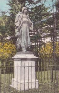 New York Castille Mary Jamison Monument Letchworth State Park Handcolored Alb...
