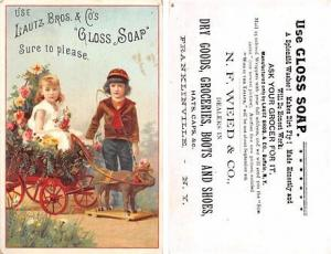 Approx Size Inches = 2.75 x 4.50 Lautz Bros & Co Gloss Soap Trade Card