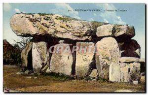 Old Postcard Dolmen Dolmen Menhir Carnac Plouharnel Crucuno
