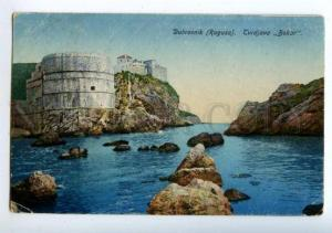 158100 Croatia DUBROVNIK Ragusa Tvrdjava BOKAR Walls Fort RPPC