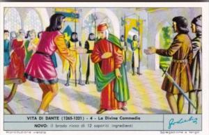 Liebig Trade Card S1810 Life Of Dante No 4 La Divina Commedia