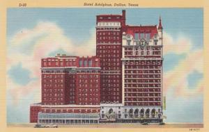 Texas Dallas Hotel Adolphus Curteich
