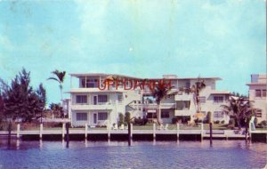 THE SOUTH HAVEN APARTMENTS, FT. LAUDERDALE, FL. 1956 Mr & Mrs Wilbur Scheirer