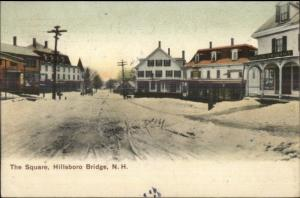 Hillsboro Bridge NH The Square c1910 Postcard