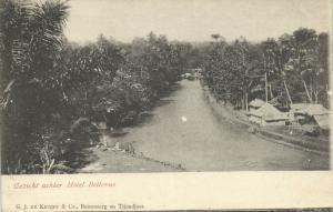 indonesia, JAVA BUITENZORG, View behind Hotel Bellevue (1899)